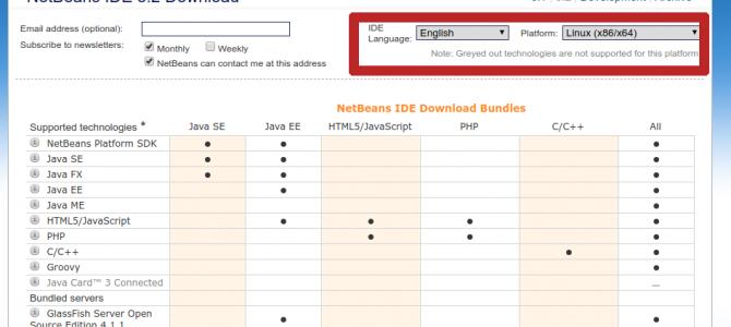 Netbeans 8.2 kurulumu (Ubuntu 16.04)